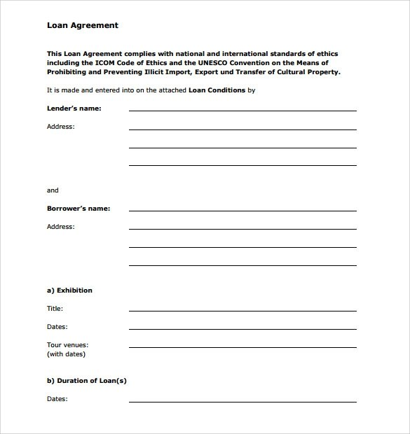 Doc12751650 Person to Person Loan Contract Loan Agreement – Personal Loan Forms Free