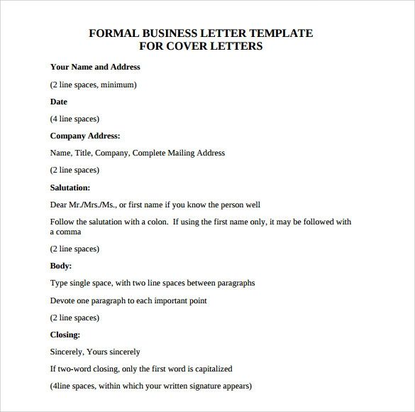 cover letter format and examples