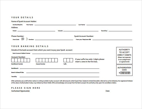 10 Direct Debit Forms to Download Sample Templates
