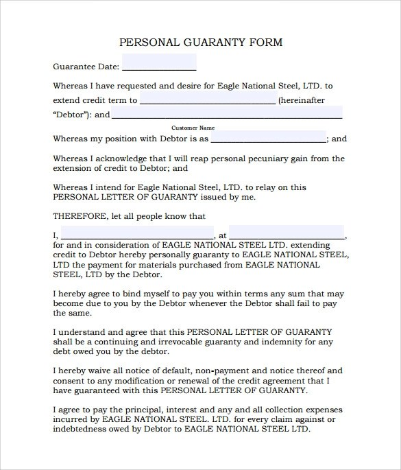 release of personal guarantee form Template – Letter of Release Template