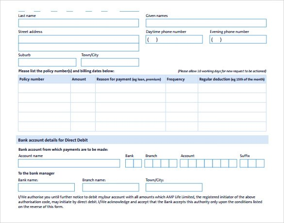 Direct Debit Form  NodeCvresumePaasproviderCom