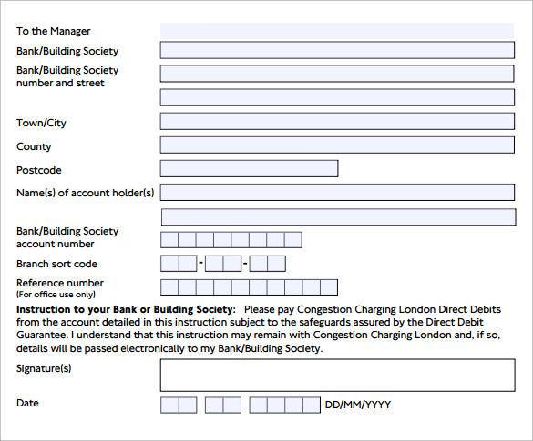 direct debit form node2003-cvresumepaasprovider - direct debit form