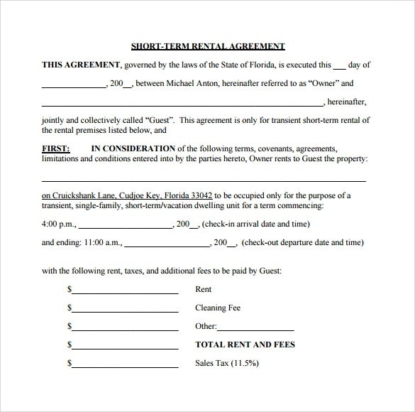 Sample Rental Agreement For Vehicle | Create Professional Resumes