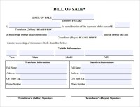8 Auto Bill of Sale Templates to Download | Sample Templates