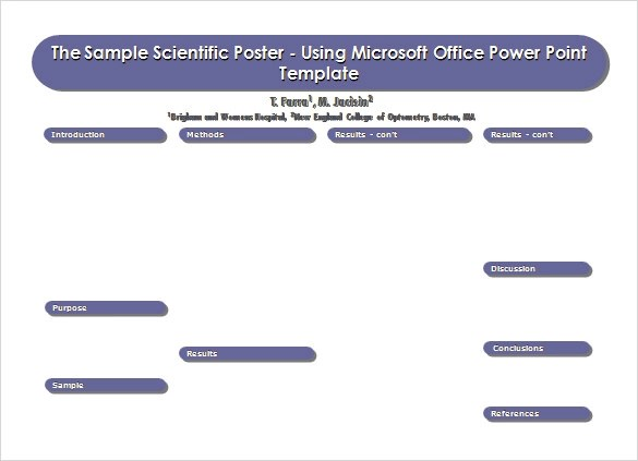 5+ Power Point Poster Templates Sample Templates - microsoft poster template