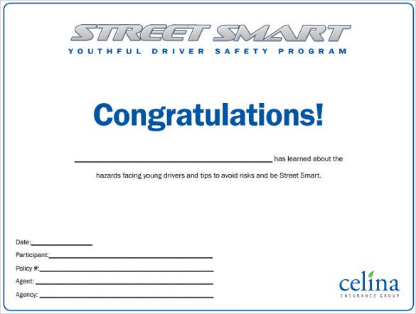 Sample Congratulations Certificates
