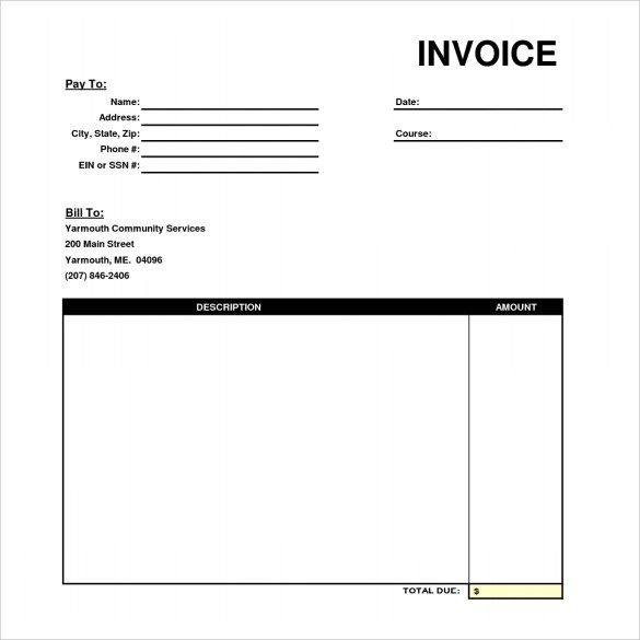 Gallery of standard invoice template invoice design inspiration
