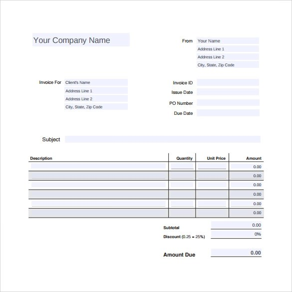 12 Sample Auto Repair Invoice Templates to Download Sample Templates - Free Basic Invoice Template