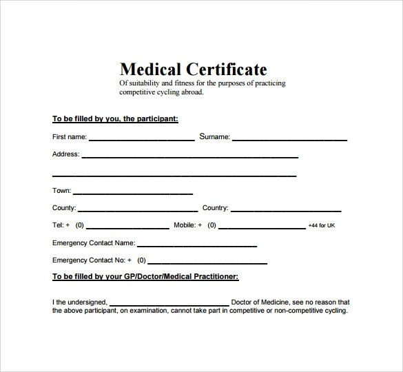 15 Medical Certificate Download for Free Sample Templates - Certificate Samples In Word Format
