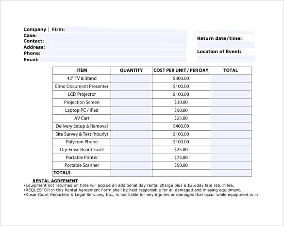 9 Sample Rent Invoice Templates to Download Sample Templates