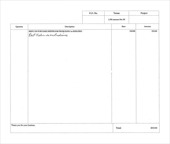Sample Rent Invoice Template - 9+ Download Free Documents in PDF , Word