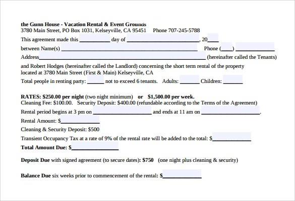 Short Rental Agreement Image collections - Agreement Letter Format - Sample Short Term Rental Agreement