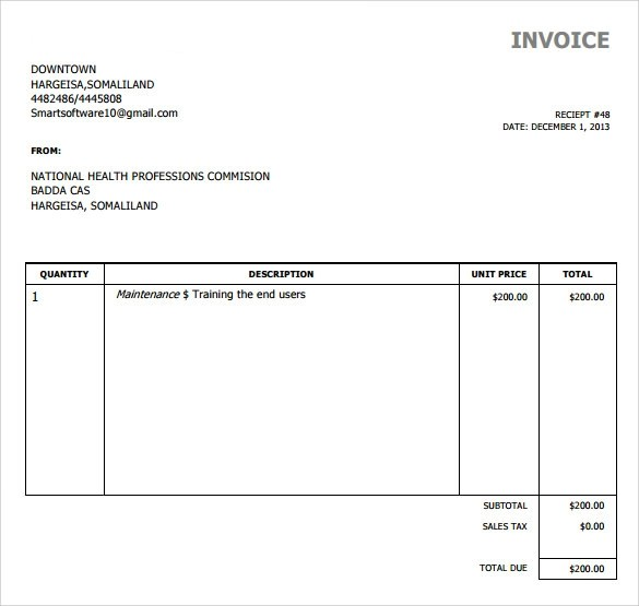 simple invoice template download - Canasbergdorfbib