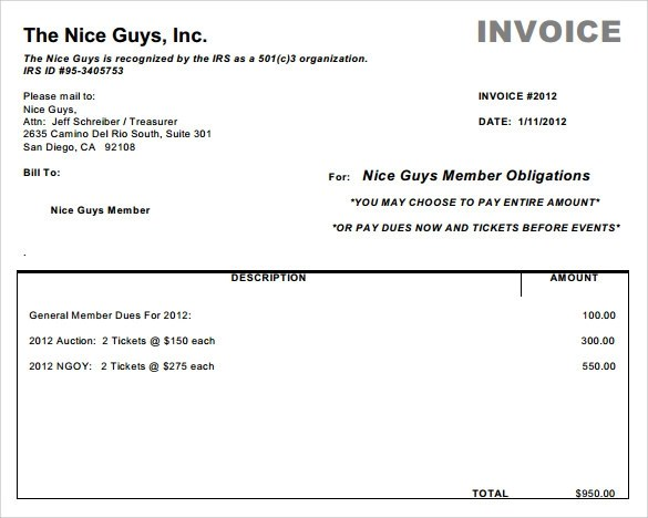 Sample Basic Invoice