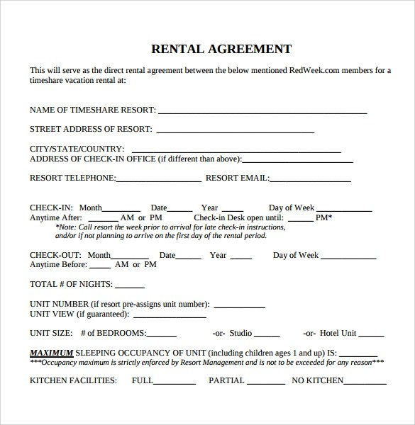 Printable Rental Agreement Printable Rental Application Template