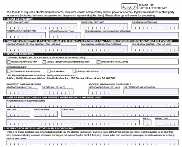 10 Medical Records Release Forms to Download Sample Templates - medical records release forms