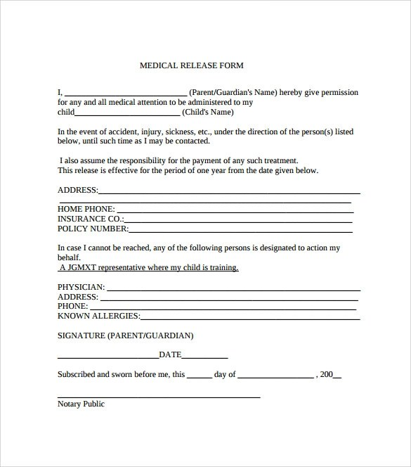 generic medical release form - Ozilalmanoof - generic photo release form