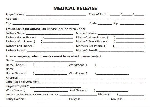 Sample Medical Release Form - 10+ Free Documents in PDF, Word - medical form in pdf