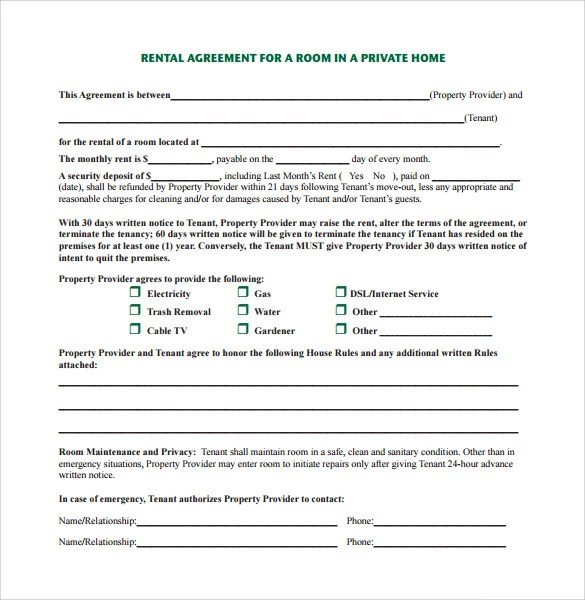House Rent Agreement Template  Parking Space Let Agreement - Form