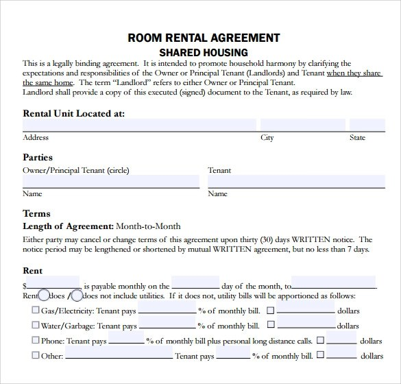 house rental agreement sample - Josemulinohouse