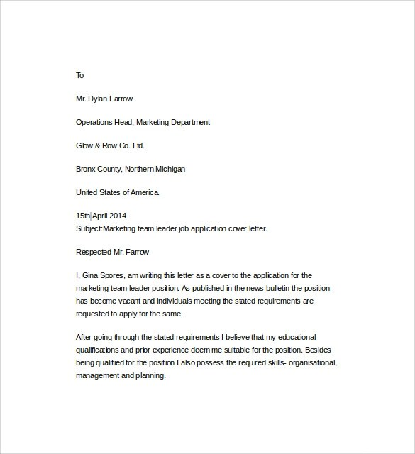 ... Cover Letter Sample For Job Cover Letter Template For Resume Free   Activity  Leader Cover Letter ...