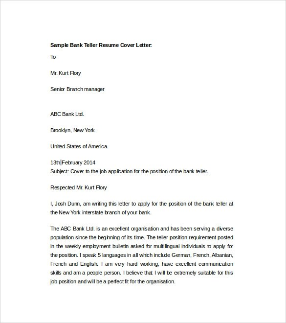 Bank Teller Cover Letter Top Result Bank Teller Cover Letter - teller resume cover letter