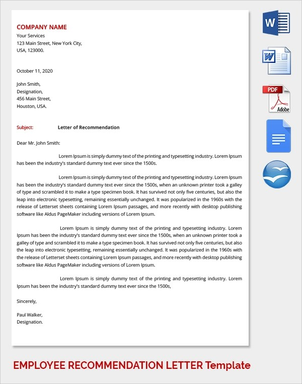 Recommendation Letter For Higher Studies Pdf Best Resume Format
