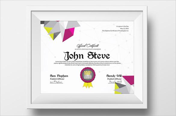 talent show award certificate template