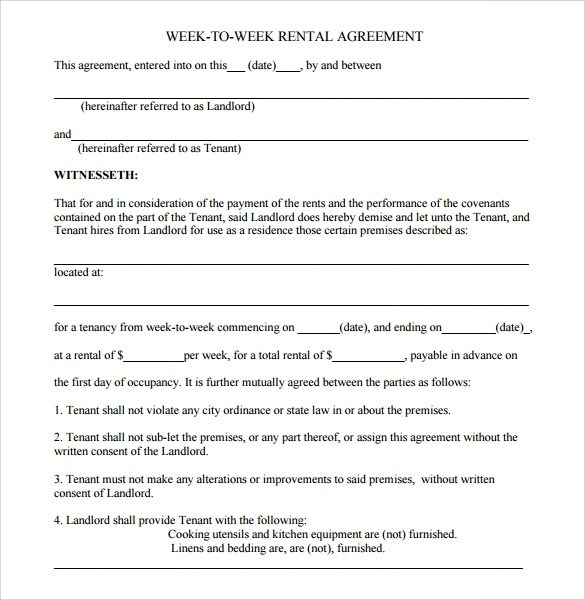 Rental Agreement Sample One Rooms Rental Agreement Roommate Rental - short term rental contract form