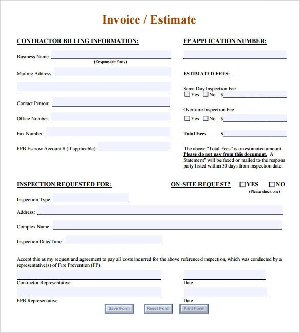 provisional invoice