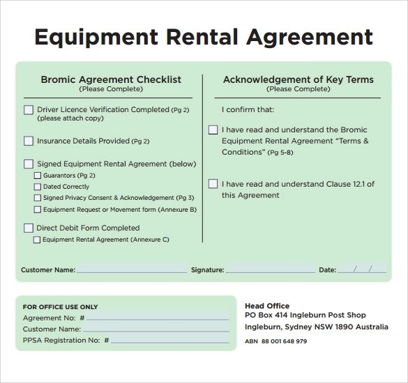 equipment lease agreement template trattorialeondoro - free simple lease agreement template