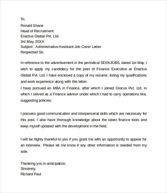 recommendation letter for office assistant