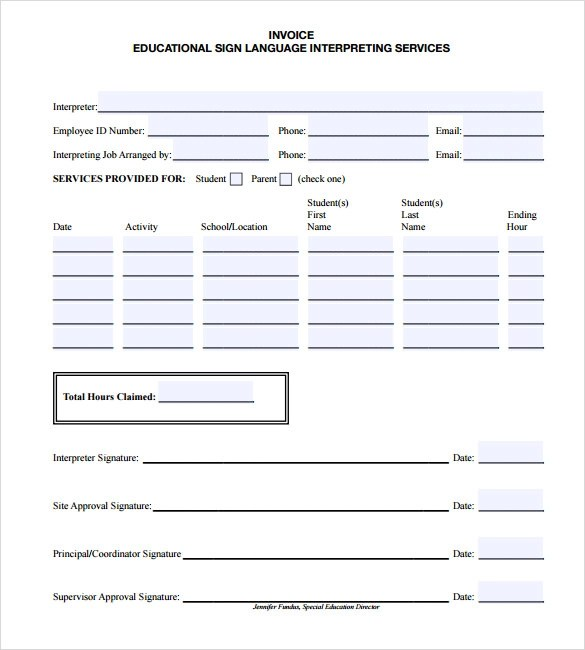Download Hvac Invoice Template | Rabitah.Net