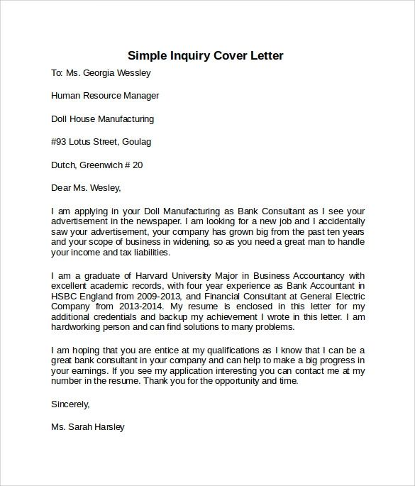 cover letter example templates