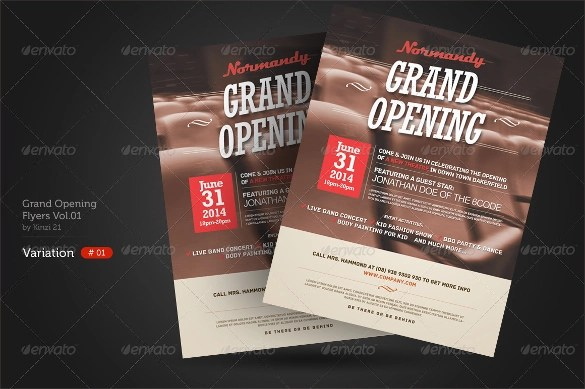 Sample Restaurant Brochure Restaurant Brochure Design Examples For - grand opening flyer template