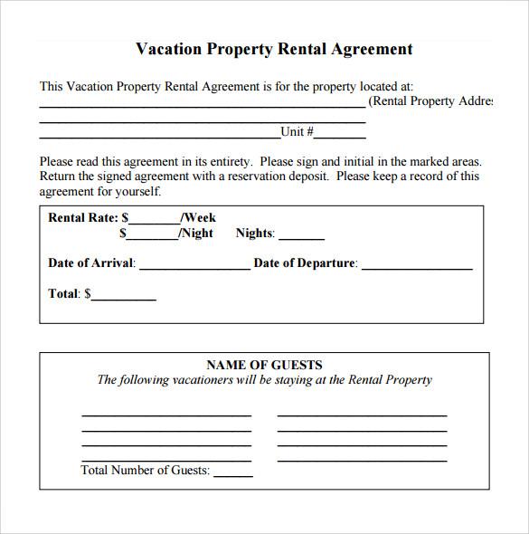 Simple Rental Agreement Word Document – Rental Agreement Document