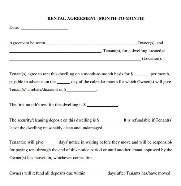Simple Rental Agreement - 9+ Download Free Documents In PDF, Word - simple rental agreements