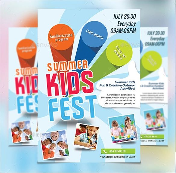 summer camp flyer template word
