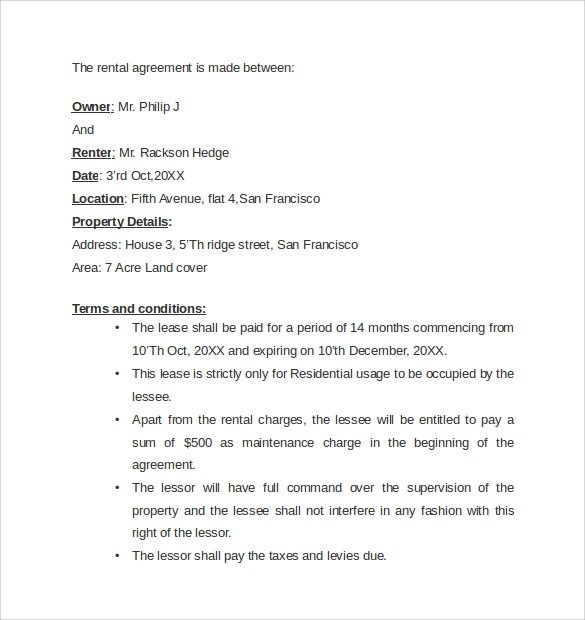 Sample Letter Of Agreement 7+ Contract Letters Childcare Resume - agreement letter examples