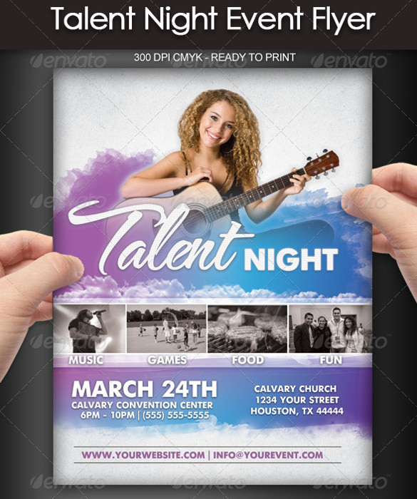14 + Talent Show Flyer Templates - Word, PSD, AI, EPS Vector