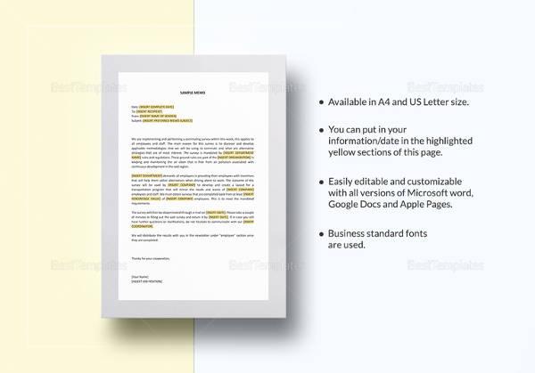 19+ Formal Memorandum Templates - Sample Word, Google Docs Format