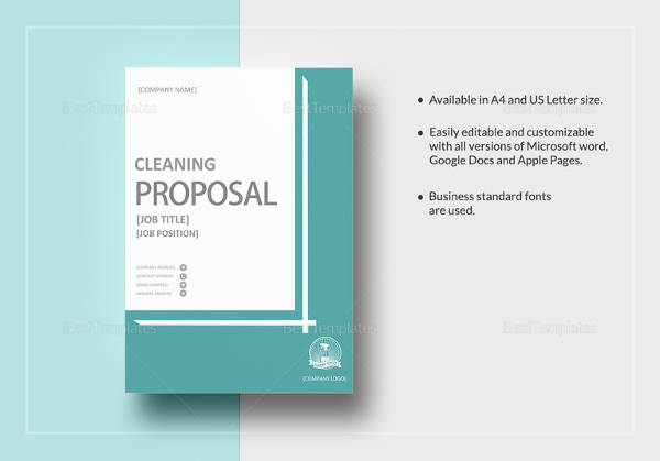 Cleaning Proposal Template Word - Costumepartyrun - sample cleaning proposal template