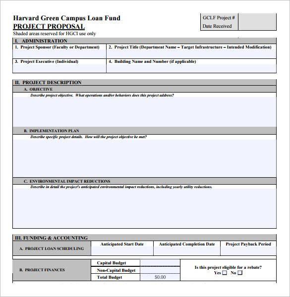 Loan Proposal Template Gallery - Template Design Ideas - sample loan proposal template