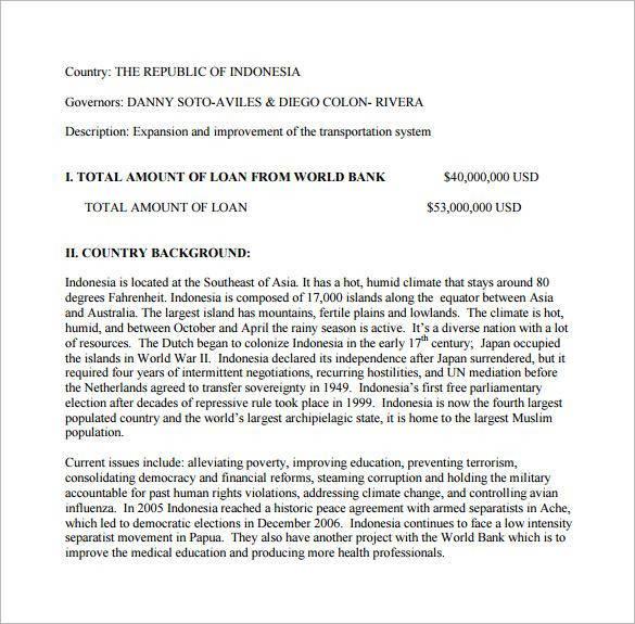 Sample Loan Proposal - 11+ Documents in PDF, Word