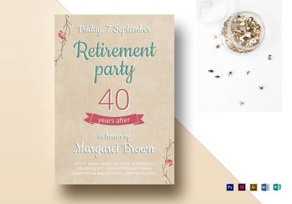 11+ Retirement Party Flyer Templates to Download Sample Templates - luncheon flyer template