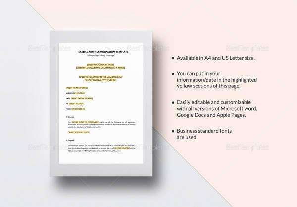 19+ Sample Formal Memorandum Templates Sample Templates