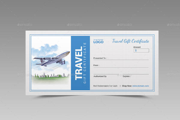 56+ Gift Certificate Templates Sample Templates - Travel Gift Certificate Template Free