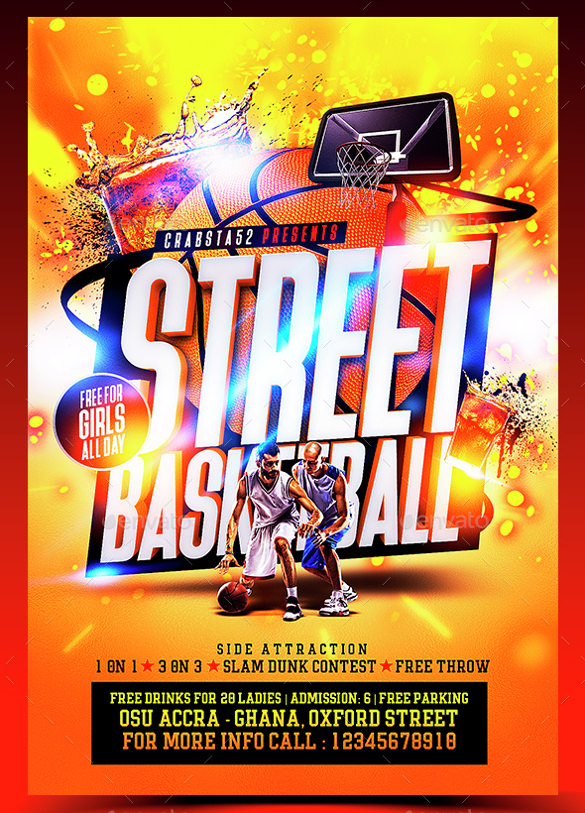 Basketball Flyer Template - 18+ Download Documents in PDF, PSD - basketball flyer example