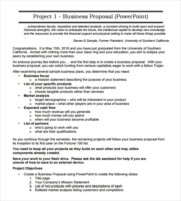 18+ Business Proposal Samples Sample Templates - business proposal template download