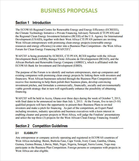 Document Template A4 Portrait Minimum Branding Sample Business Proposal 6 Documents In Pdf Word